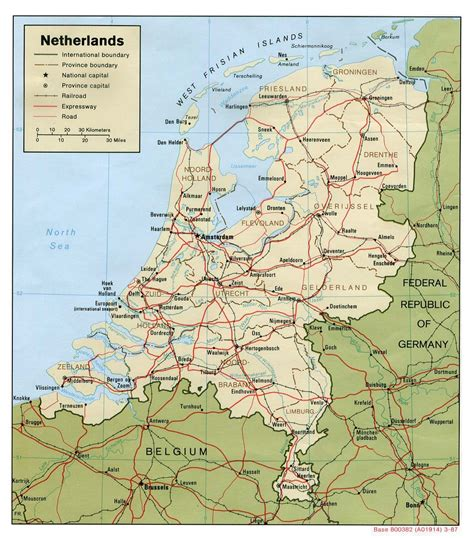 netherlands map detailed road map of netherlands netherlands road map
