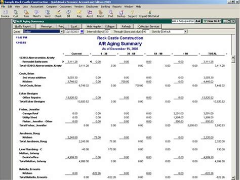 Quickbooks Accounts Receivable Aging Report by Accounts Receivable Aging Accounting Software Secrets