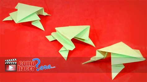 Rana Origami - origami c 243 mo hacer una rana de papel paso a paso