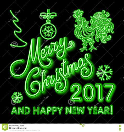new year color green green neon sign vector illustration green