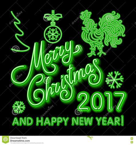 neon lights merry christmas  happy  year vector sign vector illustration cartoondealer