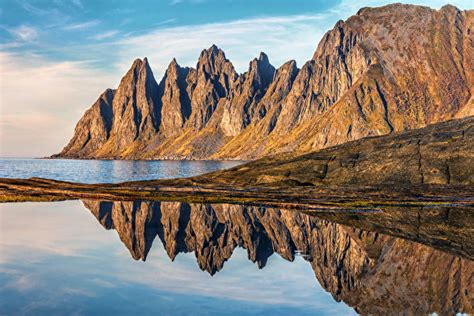 wallpaper norway senja island crag nature coast
