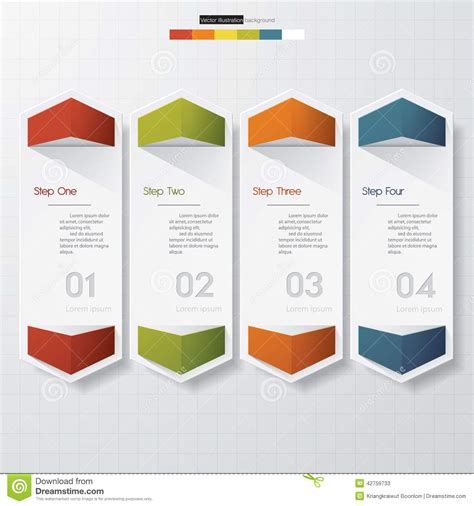 clean graphic design layout design clean number banners template stock vector image