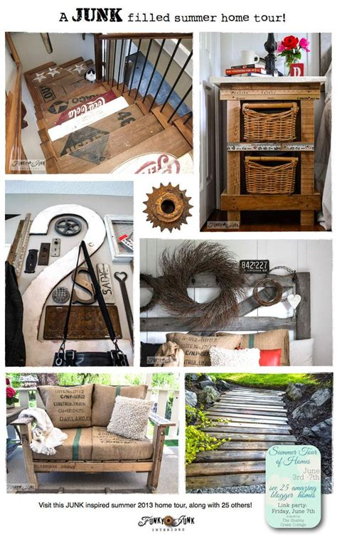 a junk filled summer home decorating tour pallet chair