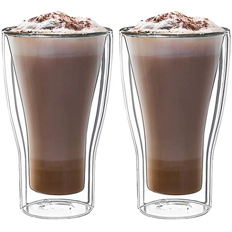espresso macchiato double luigi bormioli thermic double wall insulated latte