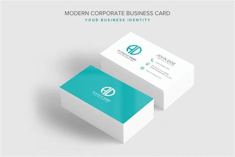 modern tri color business card template for professional modern corporate business card psd template