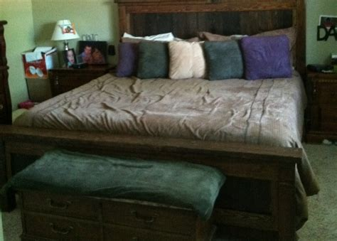 farmhouse king bed ana white farmhouse bed king size diy projects