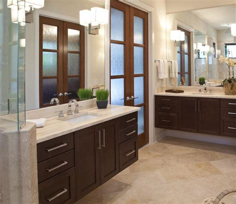 dark cabinets bathroom cabinets of the desert master bathroom dark wood