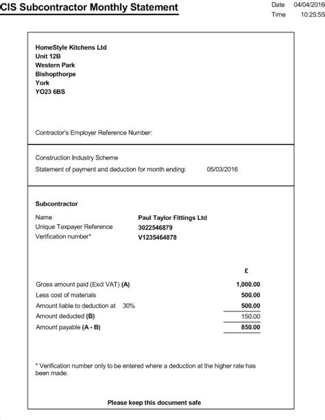 download subcontractor invoice template uk rabitah net