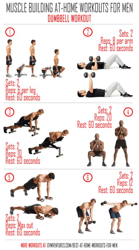 workout plans for men at home at home workouts for men 10 muscle building workouts