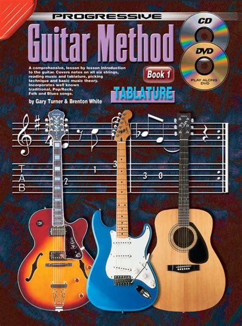 guitar book for beginners teach yourself how to play guitar songs guitar chords theory technique book lessons books progressive guitar method book 1 with tab
