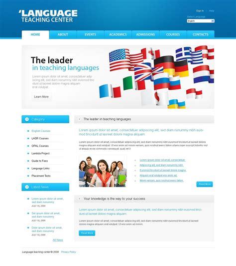 Language School Website Template 24843 Flight School Website Template