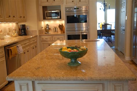 granite brown gold kitchen countertop