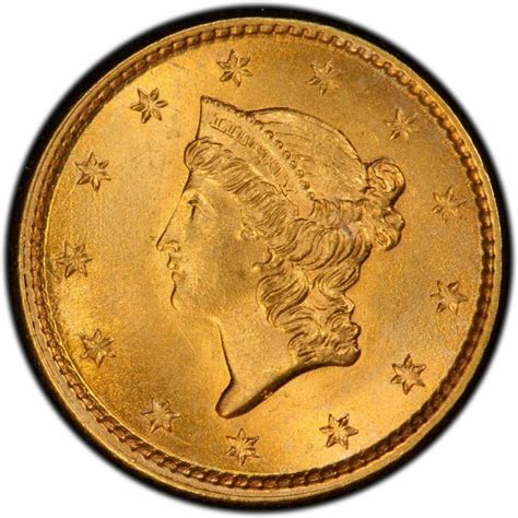 1854 liberty head gold 1 coin values and prices past sales coinvalues com