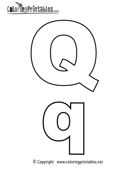 Printable Letter Q Coloring Pages by Alphabet Letter Q Coloring Page A Free Coloring