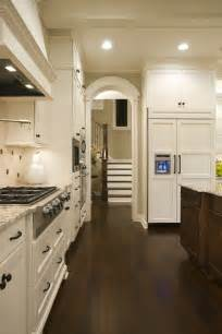 White Kitchen Cabinets Wood Floors Houzz White Kitchens Kitchen Transitional With Wood