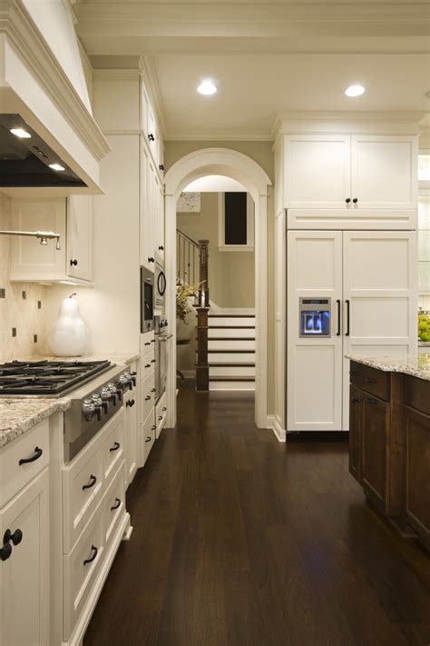 white kitchen cabinets with dark floors houzz white kitchens kitchen transitional with dark wood