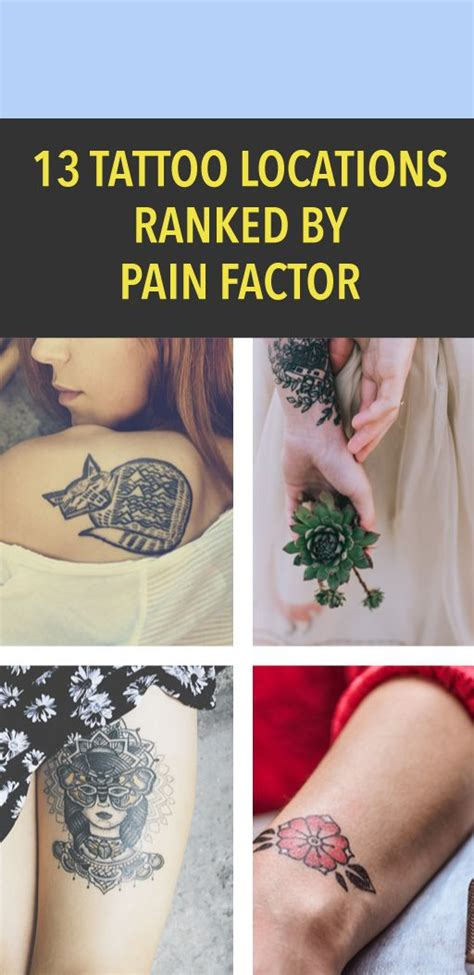 tattoo pain stories 13 tattoo locations ranked by pain factor icymi