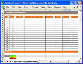 requirements spreadsheet template how to define business and business requirements
