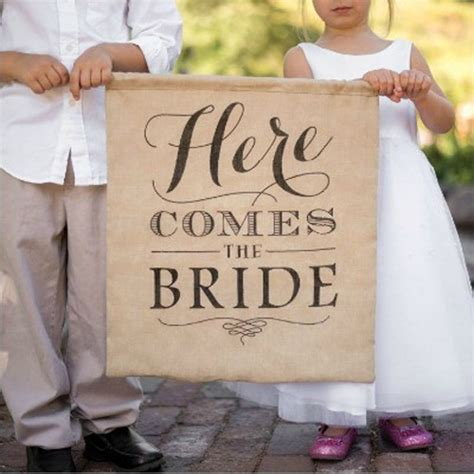 Wedding Banner Here Comes The by Rustic Linen Here Comes The Wedding Banner Photo