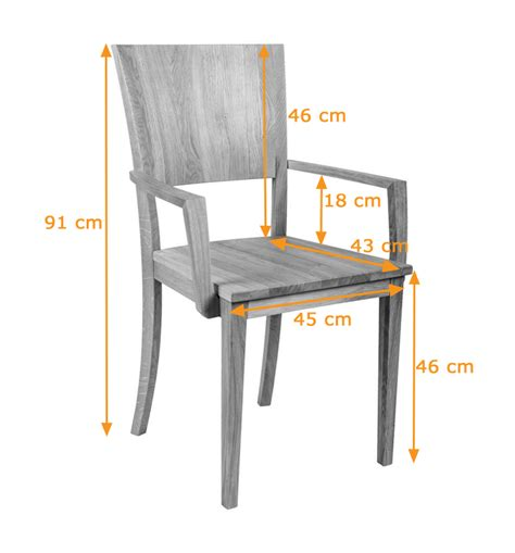 Large Contemporary Solid Oak Dining Chair With Armrest