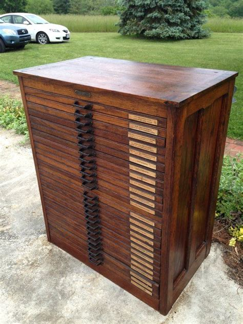 Vintage Printers Cabinet by Antique Printers Letterpress Cabinet Washington Vintage