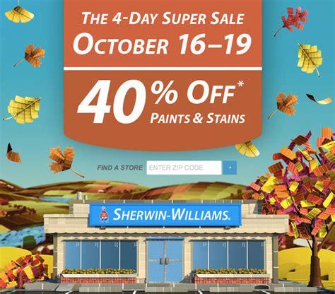 sherwin williams   paint sale