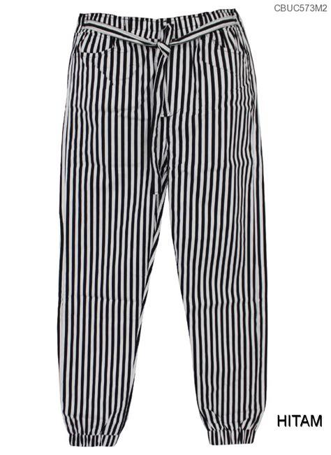 Joger Katun Anak celana joger katun stretch monochrome stripe celana