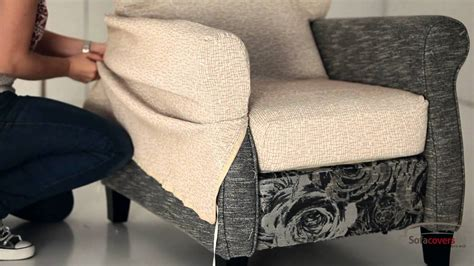 recliner chair arm covers how to install a reclining armchair cover youtube