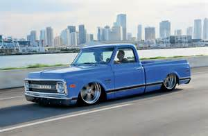 1969 Chevy Truck Custom Wheels 1969 Chevrolet C10 Ol Blue