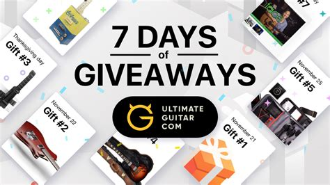 Ultimate Guitar Forum Giveaway - 7 days of giveaways music news ultimate guitar com
