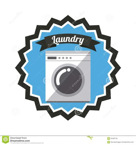 laundry graphic design laundry service stock vector image 59485745