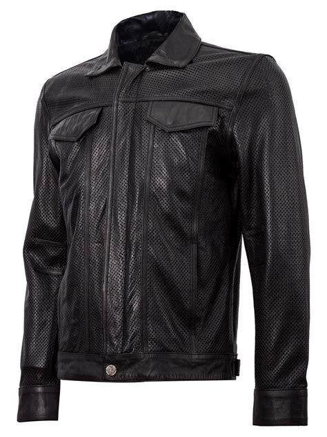 summer bike jacket summer jacket leather collar biker jacket in black