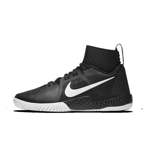 nike court flare s tennis shoe in black lyst