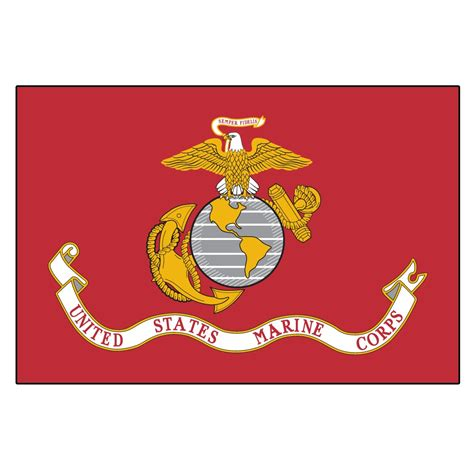 us marine corps flag 3ft x 5ft heavy duty spun polyester