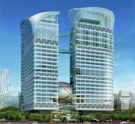 Ken Home Design Construction Singapore Fusionopolis Singapore S New Green Skyscraper Inhabitat