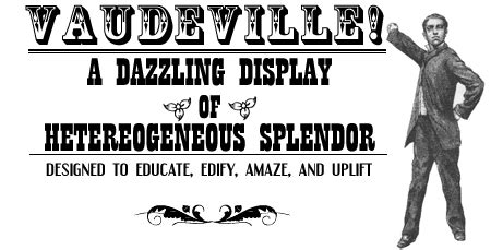 vaudeville poster template theatre resources