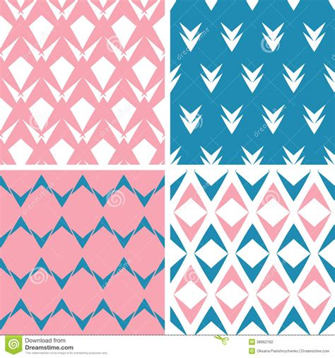abstract patterns arrows seamless pattern stock four abstract pink blue arrows geometric pink seamless