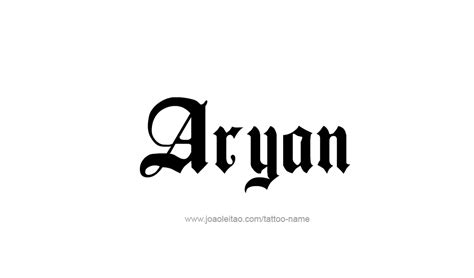 aryan name tattoo designs
