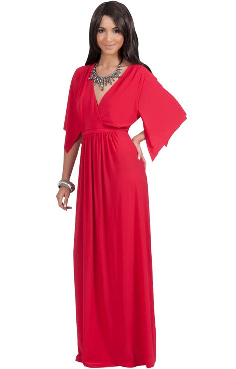 Sleeve V Neck Maxi Dress michaela flowy sleeve maternity style v neck