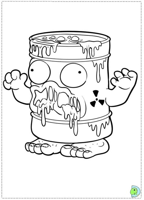 the trash pack coloring page az coloring pages