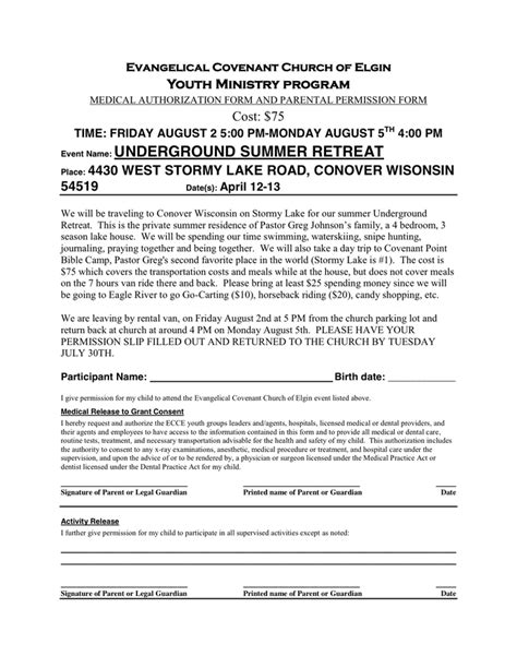 permission slip template in word and pdf formats