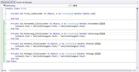 trik membuat erd membuat aplikasi kalkulator sederhana di vb 2012