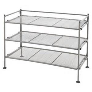 target shoe shelves seville classics 3 tier mesh utility shoe rack target