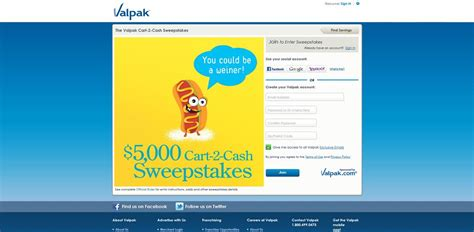 Cash Sweepstakes 2014 - valpak com grocery valpak cart 2 cash sweepstakes