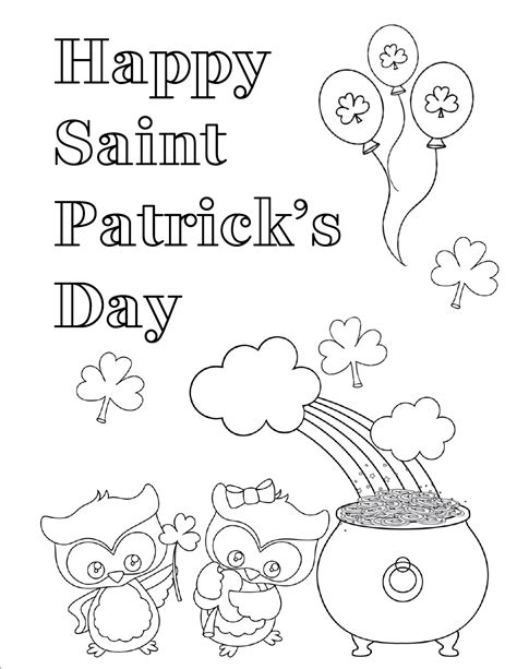 free printable st day coloring pages s day printables