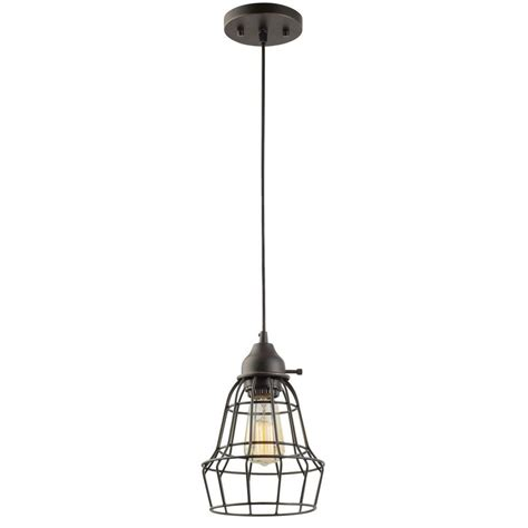 Globe Electric 1 Light 7 In Oil Rubbed Bronze And Black Rubbed Bronze Kitchen Pendant Lighting