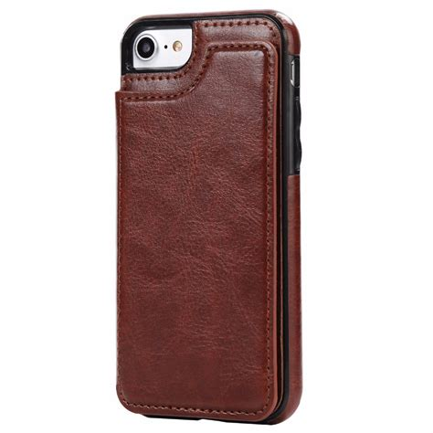 Leather Smartphone Murah leather smartphone with mini wallet for iphone 7 8