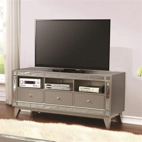 mirrored tv stand co furniture home entertainment tv stands mirrored tv