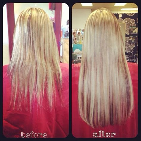 fusion hair extensions before and after before and after 4 bundles of 18 quot keratin fusion hair